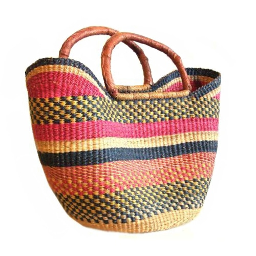The Standard Shopping Basketis our premium Bolga basket, crafted from the best elephant grass by the best weavers.