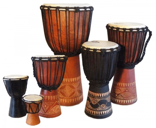 Indonesian djembes by Bashiri African Imports. Quality musical instruments. Sustainable and ethically sourced gifts for kids and adults.
