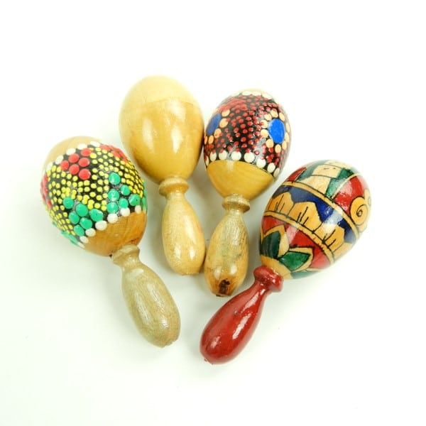 Pint size percussion in the palm of your hand! Filled with tiny beads which produce soft, crisp, sandy sounds when shaken.