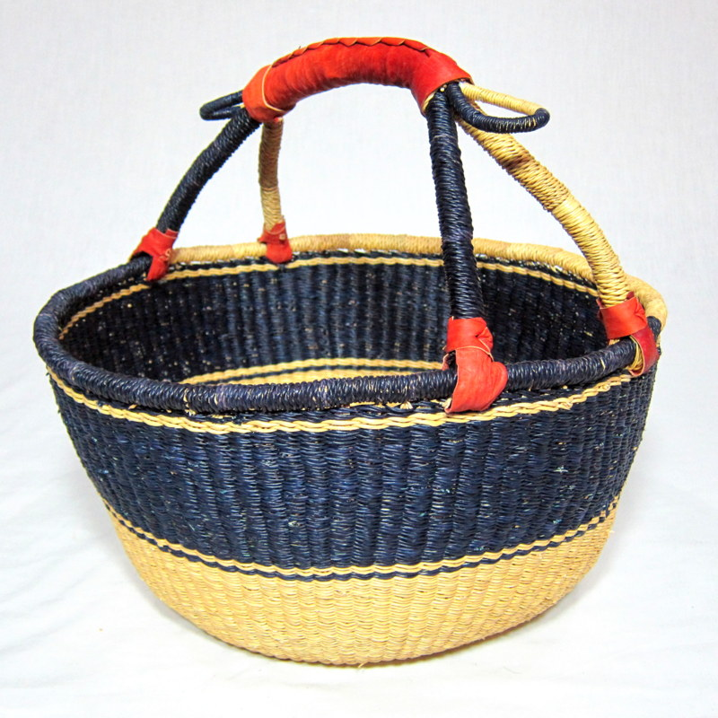 Large Round Bolga Basket - Colour of your choice