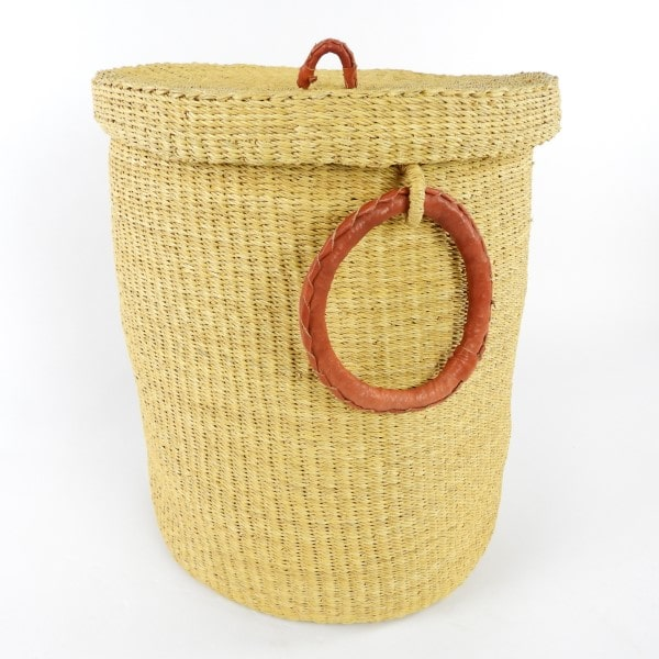 These washing baskets are one of our most popular items. Perfect for laundry, toy or linen storage. Handmade in Northern Ghana.