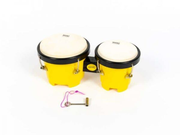 """Kids Bongos feature 5"""" & 4"""" shells with natural skin heads. These drums are great to get young children into music."""