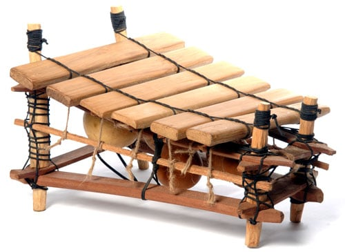Our Pentatonic Marimba's are handmade in Ghana with kiln dried twenaboa keys and gourd resonators. All come complete with a set of mallets.