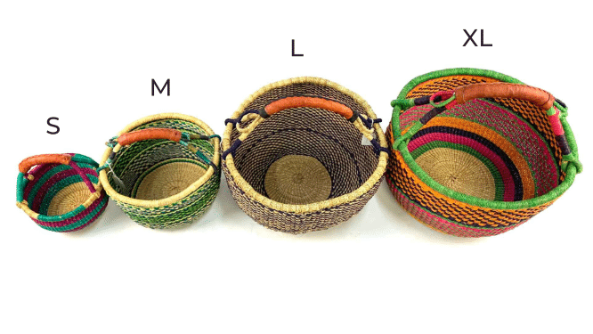 African basket - small medium large and extrea large size