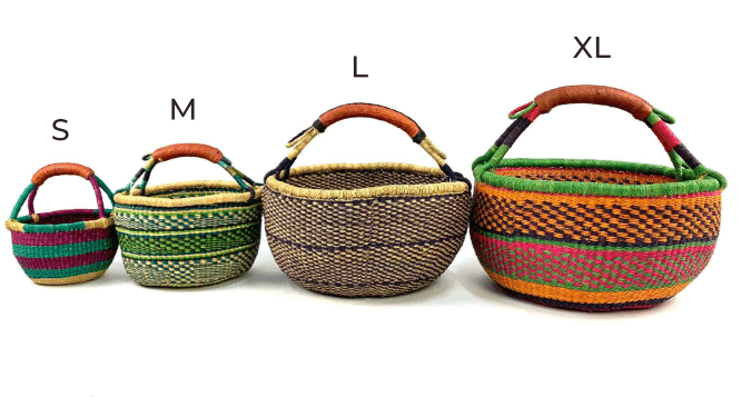 African baskets - small, medium, large, extra large